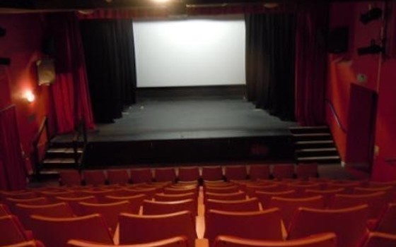 auditorium and the projector screen